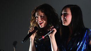 Le duo Brigitte était hier soir en concert aux Francofolies de La Rochelle qui ont débuté le 13 juillet  (XAVIER LEOTY / AFP)