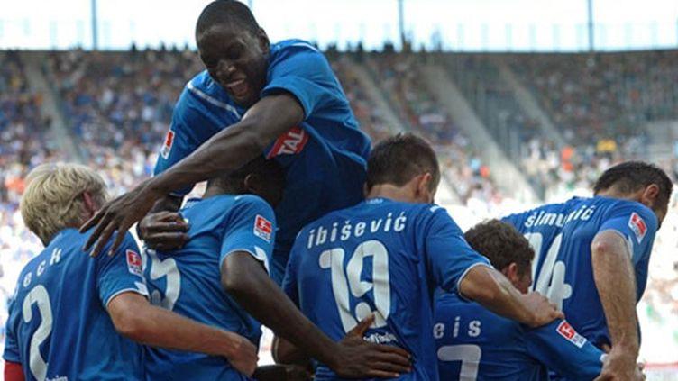 La joie des joueurs d'Hoffenheim