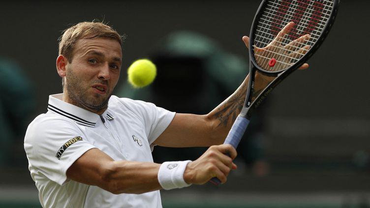 Dan Evansest le tennisman britannique le mieux classé à l'ATP (28e). (ADRIAN DENNIS / AFP)