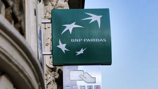 Un distributeur de la BNP-Paribas (Photo d'illustration).  (ALEX BAILLAUD / MAXPPP)