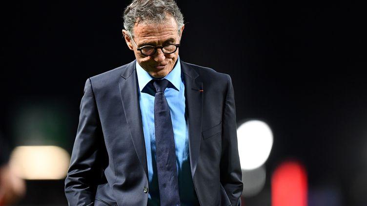 L'ancien sélectionneur du XV de France, Guy Novès, lors d'un match entre la France et le Japon à la U Arena de Nanterre (Hauts-de-Seine), le 25 novembre 2017. (FRANCK FIFE / AFP)