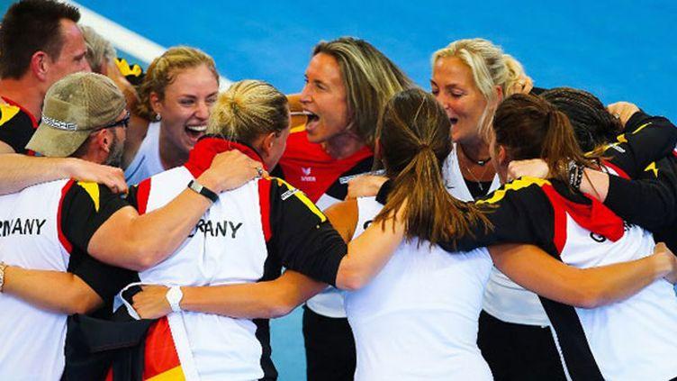 La joie du clan allemand après sa qualification en finale