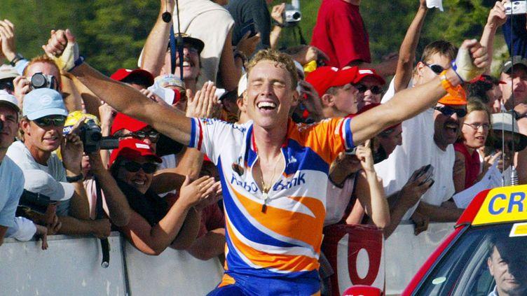 Michael Boogerd lors d'une victoire à La Plagne sur le Tour de France  (JOEL SAGET / AFP)