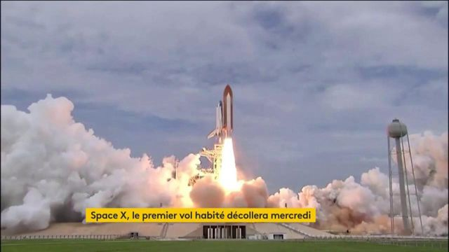 Space X : le premier vol habité d'une navette américaine aura lieu mercredi