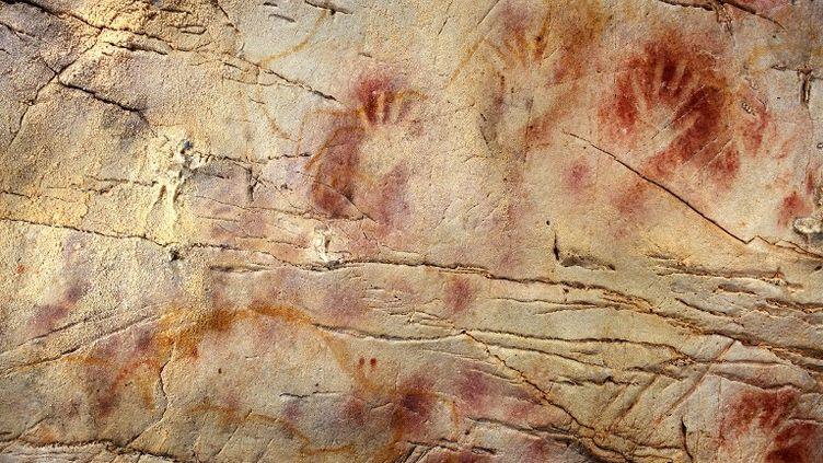 Les peintures murales de la grotte d'El Castillo, en Espagne. (PEDRO SAURA / SCIENCE)