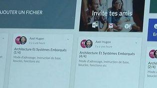 Capture d'écran montrant un site de vente de cours sur internet, le 18 août 2015. (FRANCE 3 )