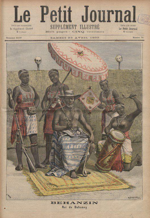 Béhanzin, roi du Dahomey. Extrait du Petit Journal, supplément du dimanche 23 avril 1892. (AFP - LE PETIT JOURNAL / RETRONEWS-BNF / BNF-PARTENARIATS)