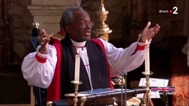 Lors de son sermon, le pasteur Michael Curry évoque Martin Luther King
