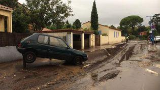 Les conséquences des inondations à Argeles (Pyrénées-Orientales), le 23 octobre 2019. (AUDE CHERON / FRANCE 3 MONTPELLIER)