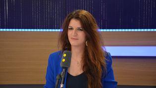 Marlène Schiappa, secrétaire d'État auprès du Premier ministre, chargée de l'Égalité entre les femmes et les hommes. (RADIO FRANCE / JEAN-CHRISTOPHE BOURDILLAT)