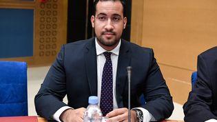 Alexandre Benalla lors de son audition par la commission d'enquête du Sénat à Paris, le 19 septembre 2018. (BERTRAND GUAY / AFP)