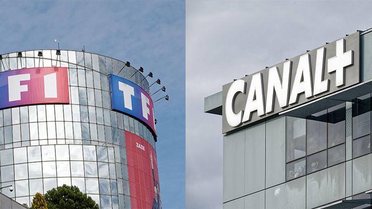 Les sièges de TF1 et de Canal + à Boulogne-Billancourt (Hauts-de-Seine). (MAXPPP)