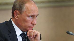 Le président russe Vladimir Poutine, à Voronezh, le 5 août 2014. (ALEXEY DRUZHININ / RIA NOVOSTI / AFP)
