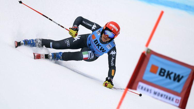 A 26 ans, Federica Brignone remporte le premier super-combiné de sa carrière en Coupe du Monde à Crans-Montana (Suisse). (FABRICE COFFRINI / AFP)