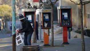 Cabines téléphoniques publiques à Maseru, capitale du Lesotho (Siphiwe Sibeko/ reuters)