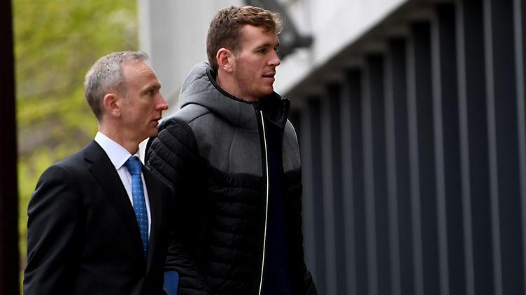 Le joueur de rugby de Grenoble Chris Farrell (JEAN-PIERRE CLATOT / AFP)