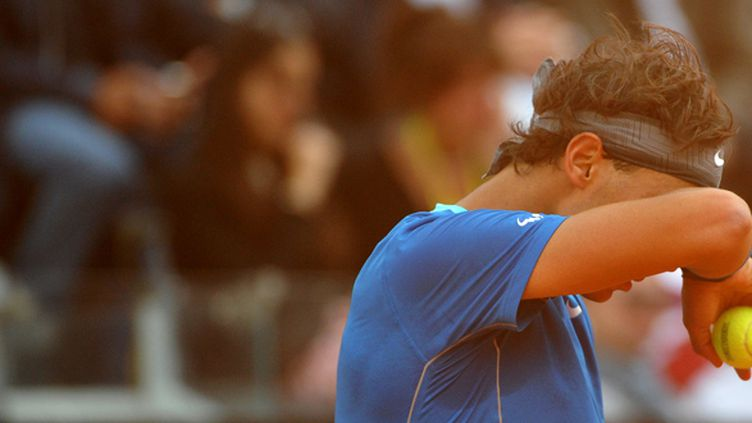 Rafael Nadal a encore dû s'employer pour s'imposer (TIZIANA FABI / AFP)
