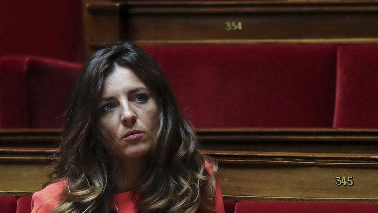 Coralie Dubost, députée LREM de Paris, durant un débat à l'Assemblée nationale, le 7 mai 2020. (LUDOVIC MARIN / POOL)