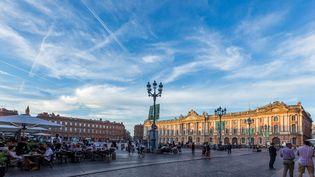 La place du Capitole, à Toulouse (Haute-Garonne). (ALIZEE PALOMBA / AFP)