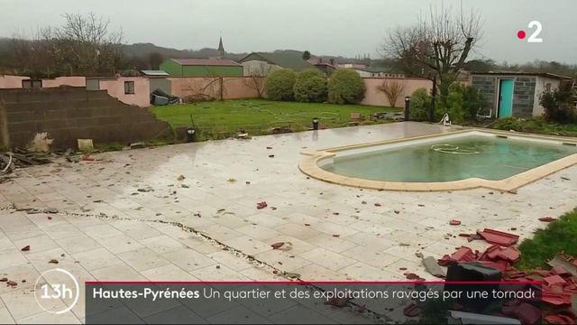 Hautes-Pyrénées : un quartier et des exploitations agricoles ravagés par une tornade