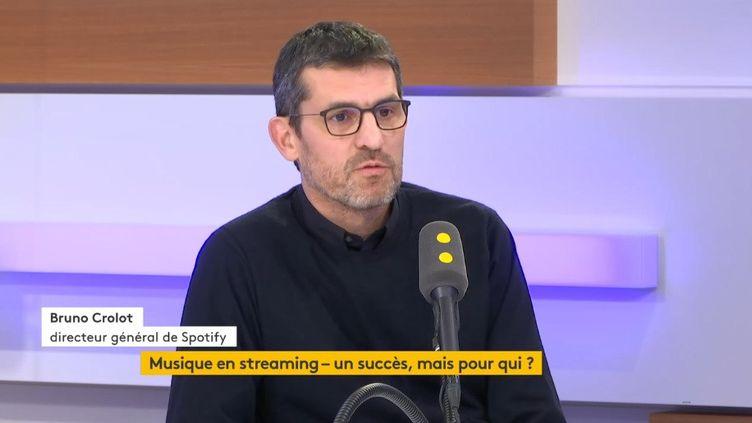 Bruno Crolot, directeur général de Spotify. (FRANCEINFO / RADIOFRANCE)