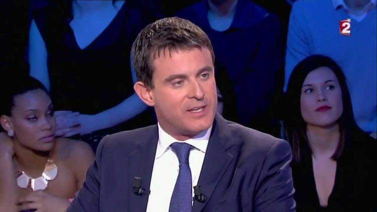 (Manuel Valls à On n'est pas couché, en décembre 2013.)