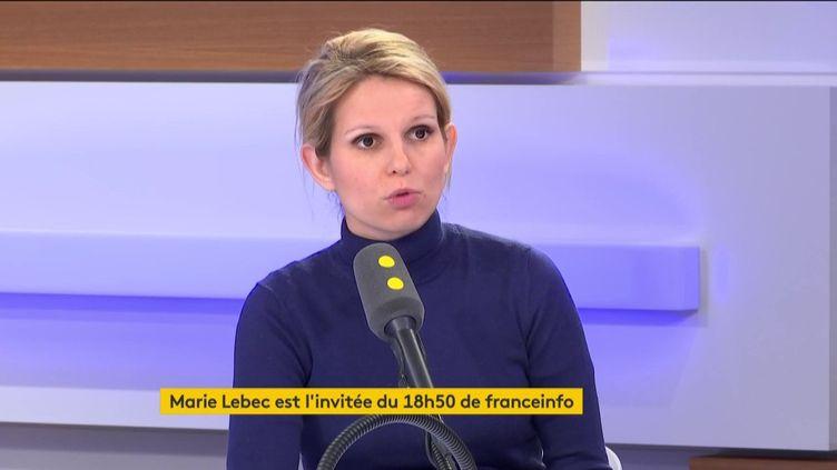 La députée Marie Lebec (LREM) était l'invitée du 18h50 de franceinfo. (FRANCEINFO / RADIOFRANCE)