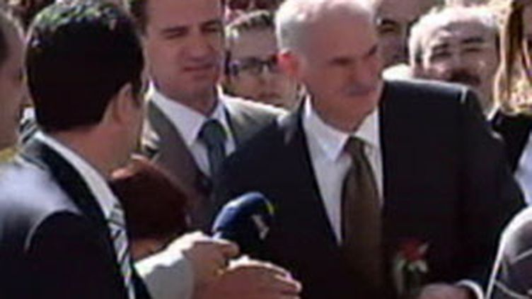 Georges Papandréou, candidat victorieux de l'opposition grecque aux Législatives du 04 octobre 2009. (France 2)