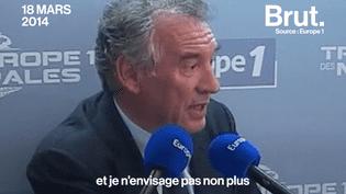 En 2014 François Bayrou annonçait qu'il ne se présenterait pas à l'élection présidentielle, ni à la députation et qu'il ne rejoindrait pas de gouvernement. Pourtant, il vient d'être nommé garde des Sceaux dans le gouvernement d'Édouard Philippe. (Brut)
