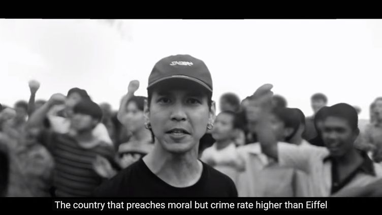 "Capture d'écran ducollectif ""Rap contre la dictature"". (CAPTURE ECRAN YOUTUBE)"