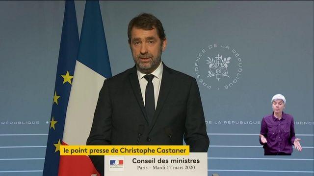 """VIDEO. """"Restez chez vous"""" : le ministre de l'Intérieur détaille les règles du confinement pour ralentir la propagation du coronavirus."""