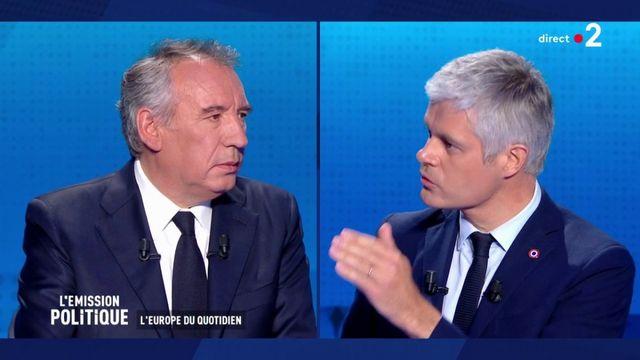 Européennes : bras de fer entre Wauquiez et Bayrou sur les liens de la France avec l'Europe