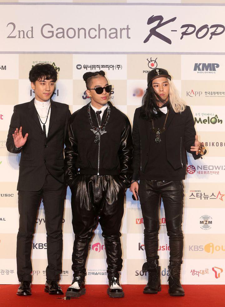 Seungri, Taeyang et G-Dragon en 2013  (STARNEWS / AFP)