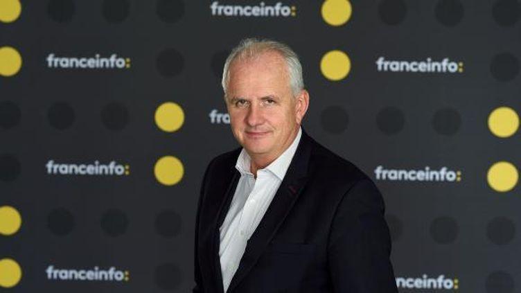 Olivier de Lagarde présente Les informés sur franceinfo. (FRANCEINFO / RADIOFRANCE)