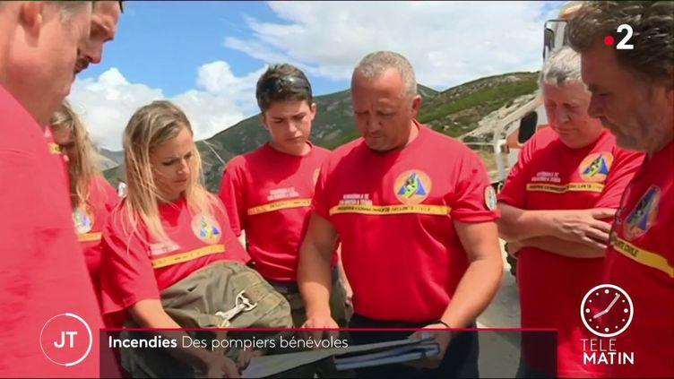 Des pompiers bénévoles en Corse. (France 2)