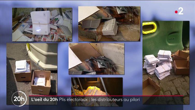 Plis électoraux: les distributeurs au pilori (FRANCE 2)