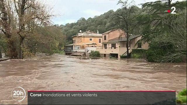 Inondations et vents violents en Corse