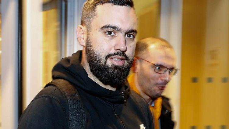"""Eric Drouet, un des leaders des """"gilets jaunes"""", le 23 décembre 2018 à Paris. (FRANCOIS GUILLOT / AFP)"""