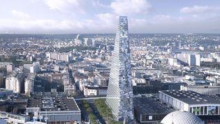 Presentation du projet de la tour Triangle, le 17 septembre 2014 à Paris. (SIPA / AP)