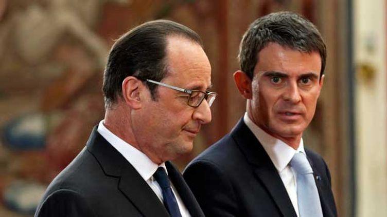 (Le président François Hollande et son Premier ministre Manuel Valls. Photo d'illustration © Maxppp)