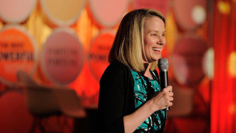 """Marissa Mayer, lors d'un évènement organisé par le magazine """"Fortune"""" le 24 mai 2011, à New York (Etats-Unis). (JEMAL COUNTESS / GETTY IMAGES / AFP)"""