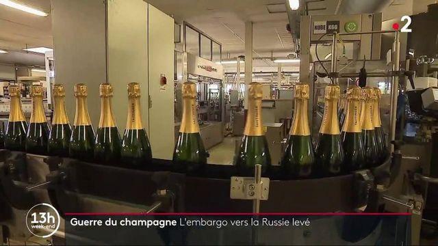 Champagne : la France reprend ses exportations vers la Russie