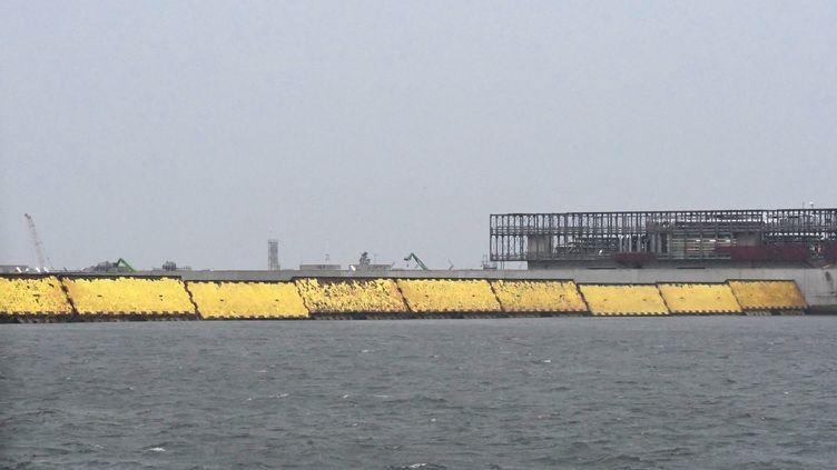 "Le barrage ""Moïse"" a permis d'éviter l'inondation ce samedi 3 octobre. (ANDREA PATTARO / AFP)"