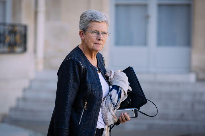 Geneviève Darrieussecq, secrétaire d'Etat auprès de la ministre des Armées, à l'Elysée, le 11 septembre 2019. (MARIE MAGNIN / HANS LUCAS)