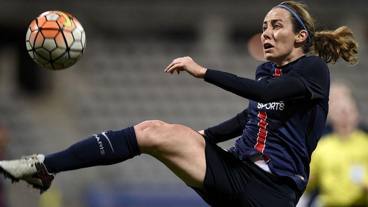 Sabrina Delannoy (PSG) rêvent du titre européen (FRANCK FIFE / AFP)