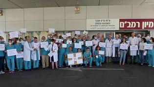Conflit israélo-palestinien : à l'hôpital d'Haïfa, les soignants juifs et arabes font le choix de l'unité (Capture d'écran France 2)