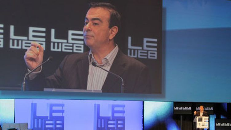 Carlos Ghosn, le PDG de Renault-Nissan en ouverture du Web 10 (France 2 / photo Angel Herrero Lucas)