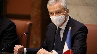 Le ministre de l'Economie et de la Relance Bruno Le Maire à Rome (Italie) le 19 mars 2021 (PIERO TENAGLI / IPA / MAXPPP)