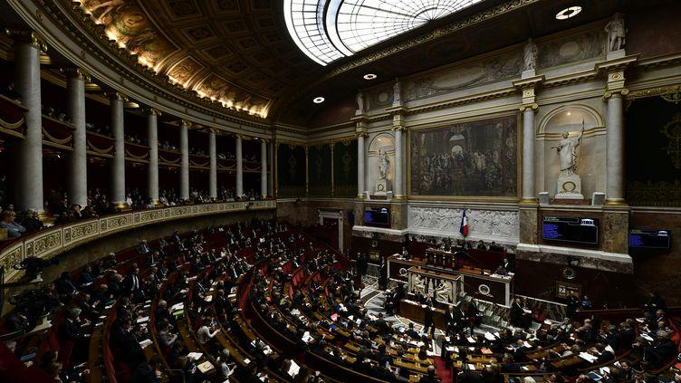 """8 Français sur 10 jugent qu'une réforme constitutionnelle serait utile pour la France, selon un sondage Odoxa-Dentsu Consulting pour franceinfo et """"Le Figaro"""", publié jeudi 8 mars 2018. (PHILIPPE LOPEZ / AFP)"""