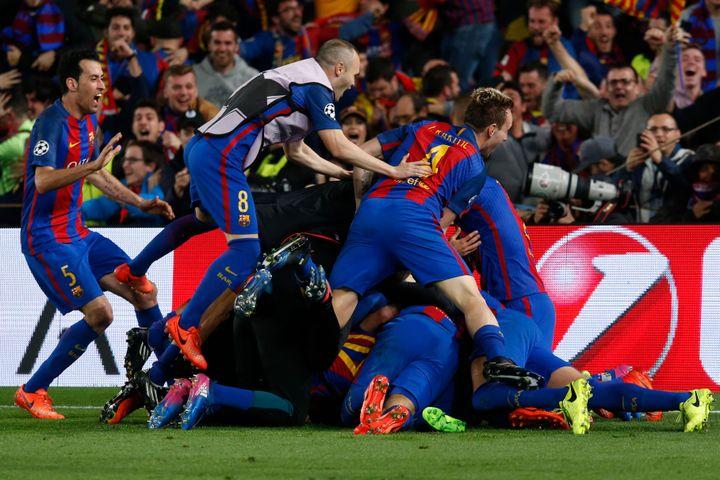 """Après sa """"remontada"""" historique face au Paris-SG (0-4, 6-1), le FC Barcelone est capable de tout en Ligue des Champions cette saison. Du pire comme du meilleur..."""